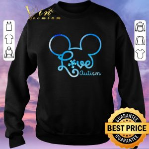 Awesome Mickey head love autism awareness shirt sweater 2