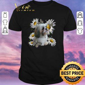 Awesome Shih Tzu Daisy Flower Butterfly shirt sweater