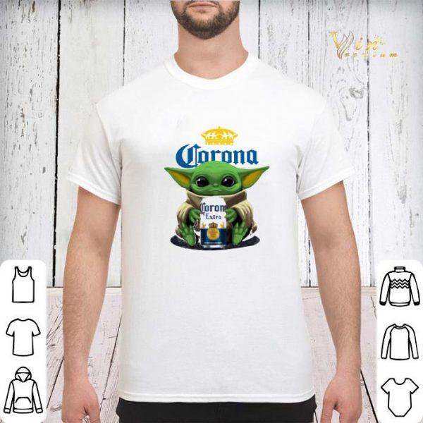 Baby Yoda Hug Corona Extra Beer shirt sweater