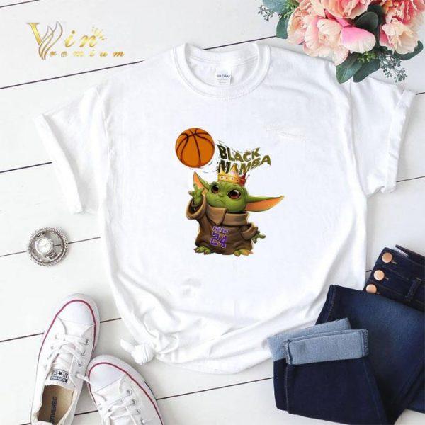 Baby Yoda mashup Black Mamba King Bryant 24 shirt