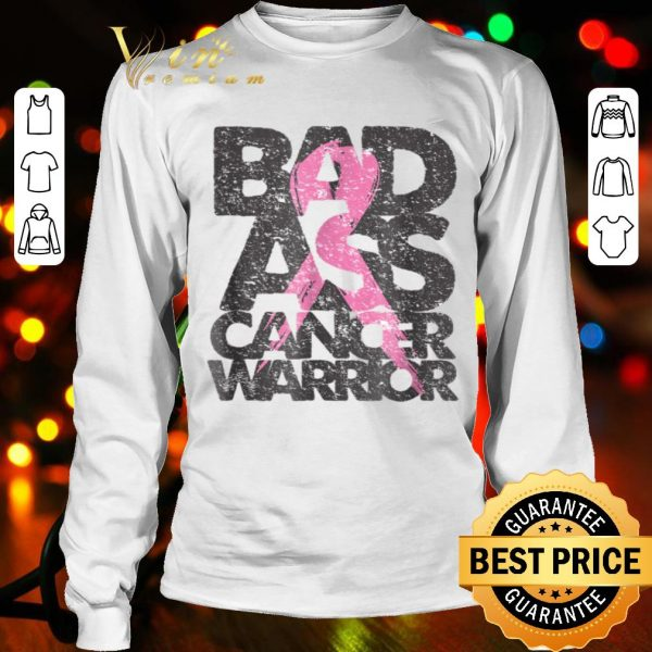 BadAss Breast Cancer Warrior Pink Ribbon Support Tee shirt