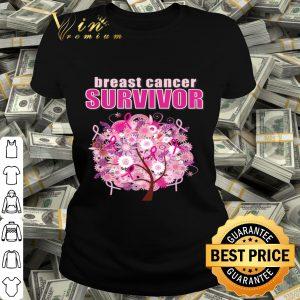 Beautiful Floral Breast Cancer Survivor Awareness shirt