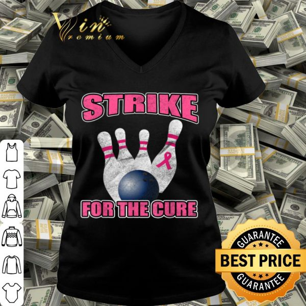 Bowling Team Gift for Survivor Breast Cancer Family Support shirt