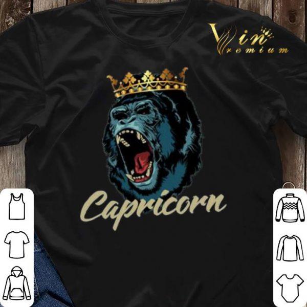 Capricorn Queen Gorilla Zodiac shirt