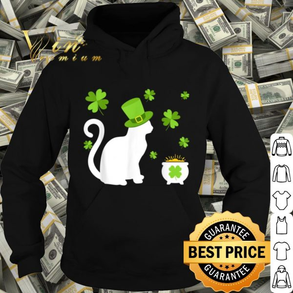 Cat Lovers Clovers St. Patrick's Day Gift T-shirt