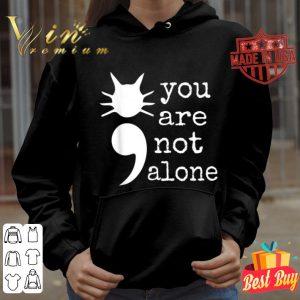 Cat Shape Semicolon Gift Suicide Prevention Awareness shirt
