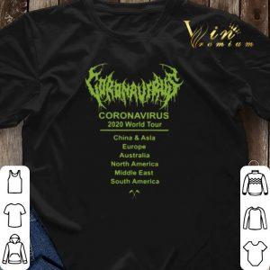 Coronavirus 2020 world tour 2020 China & Asia Europe Australia shirt 2