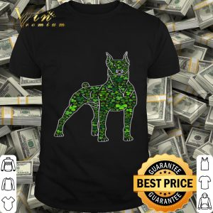 Cute Shamrock Doberman Dog Mom Dad St Patricks Day Irish T-shirt
