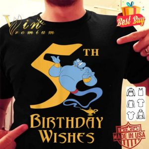 Disney Aladdin Genie 5th Birthday Wishes shirt