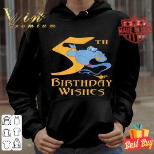 Disney Aladdin Genie 5th Birthday Wishes shirt