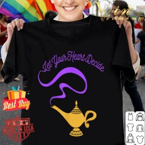 Disney Aladdin Genie Lamp Your Heart Decide Graphic shirt