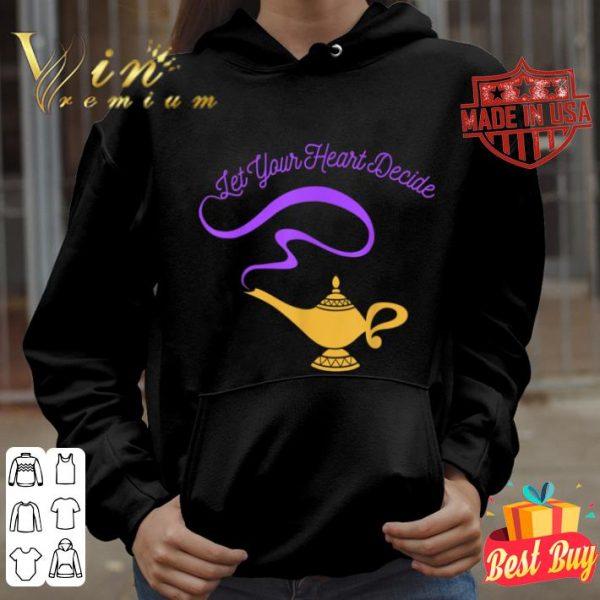 Disney Aladdin Genie Lamp Your Heart Decide Graphic shirt