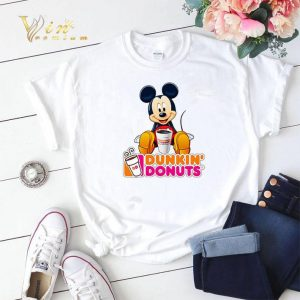 Disney Mickey Mouse mashup Dunkin' Donuts shirt sweater