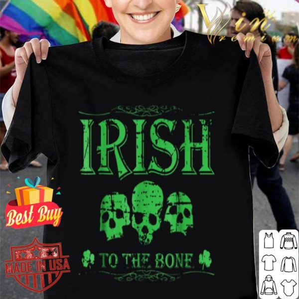 Distressed Cool Irish Skull St Patricks St Patty's Day shirt