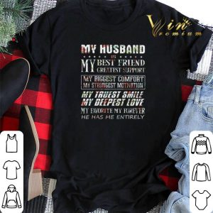 Flower My husband is my best friend greatest support my biggest shirt sweater 1