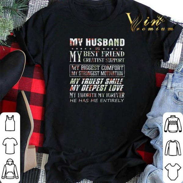 Flower My husband is my best friend greatest support my biggest shirt sweater