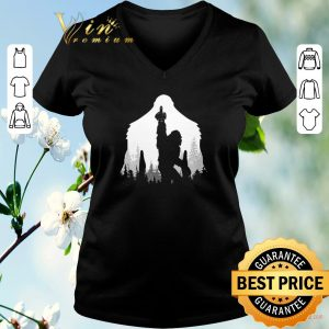 Funny Bigfoot middle finger in the forest shirt sweater 1