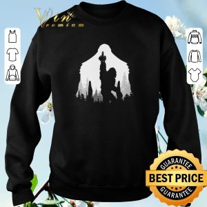 Funny Bigfoot middle finger in the forest shirt sweater 2