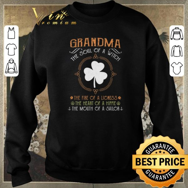 Funny Grandpa the soul of a witch the fire of a lioness Hippie sailor shirt sweater