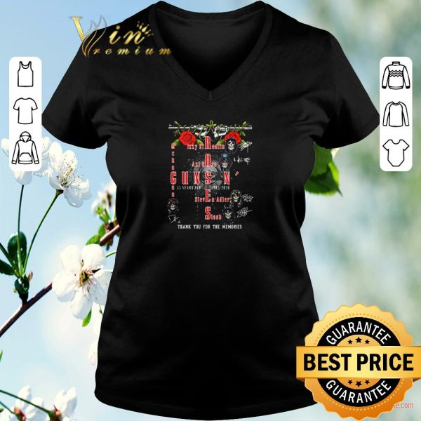 Funny Guns N' Roses 35 years for 1985 2020 thank you for the memories shirt sweater