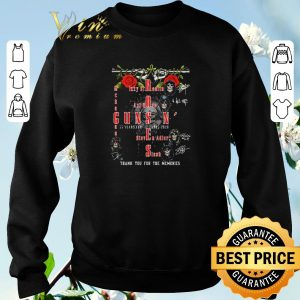 Funny Guns N' Roses 35 years for 1985 2020 thank you for the memories shirt sweater 2