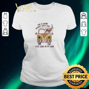 Funny Hippie car On a day desert high way cool wind in my hair shirt sweater