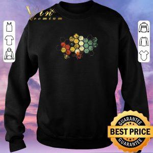 Funny Honeycomb Rainbow Bee Vintage shirt sweater 2
