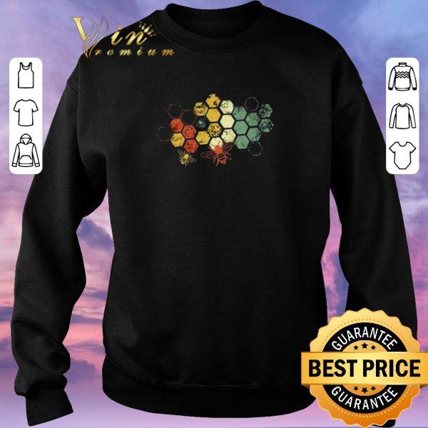 Funny Honeycomb Rainbow Bee Vintage shirt sweater