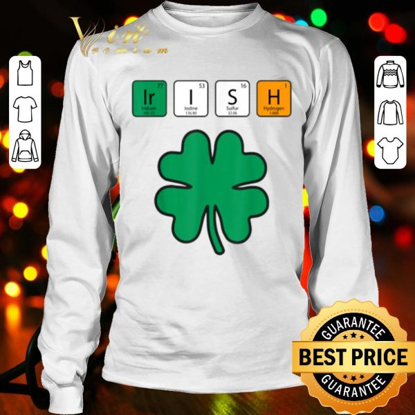 Funny Irish St Patrick's Day Chemistry Science T-shirt