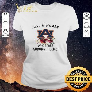 Funny Just A Woman Who Loves Auburn Tigers Logo Flowers shirt sweater