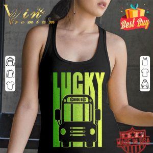 Funny Lucky Irish School Bus driver St Patricks Day Gift T-shirt