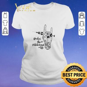 Funny Rockin the phlebotomist life shirt sweater 1