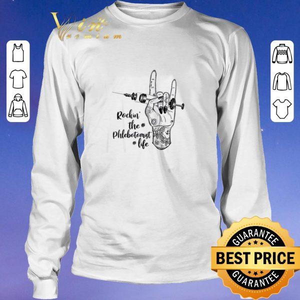 Funny Rockin the phlebotomist life shirt sweater