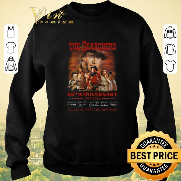 Funny The Searchers 65th anniversary 1955-2020 signatures shirt sweater