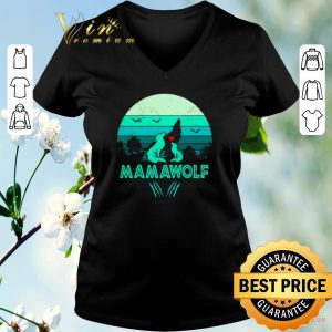 Funny Wolves love mamawolf vintage mother day shirt sweater 1