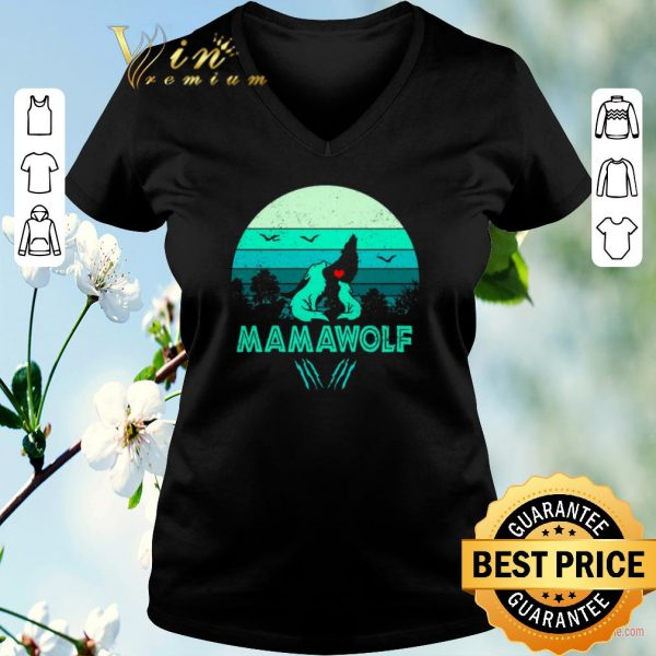 Funny Wolves love mamawolf vintage mother day shirt sweater