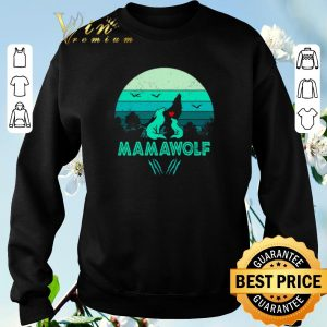 Funny Wolves love mamawolf vintage mother day shirt sweater 2