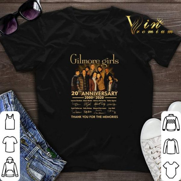 Gilmore girls 20th anniversary 2020-2020 signatures thank you for the memories shirt