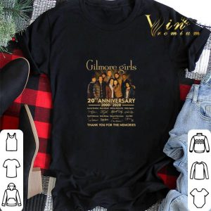 Gilmore girls 20th anniversary 2020-2020 signatures thank you for the memories shirt 1