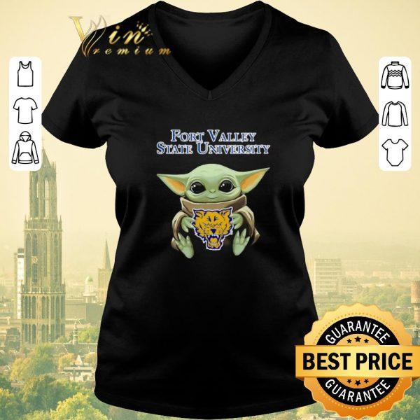 Hot Baby Yoda Hug Fort Valley State Wildcats Star Wars shirt sweater