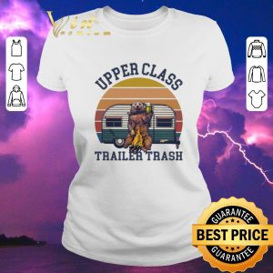 Hot Camping Bear Upper Class Trailer Trash Vintage shirt sweater 1