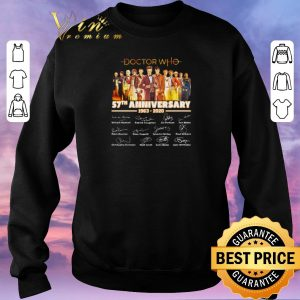 Hot Doctor Who 57th Anniversary 1963-2020 Signatures shirt sweater 2