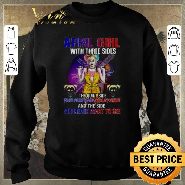 Hot Harley Quinn April girl with three sides you never want to see shirt sweater