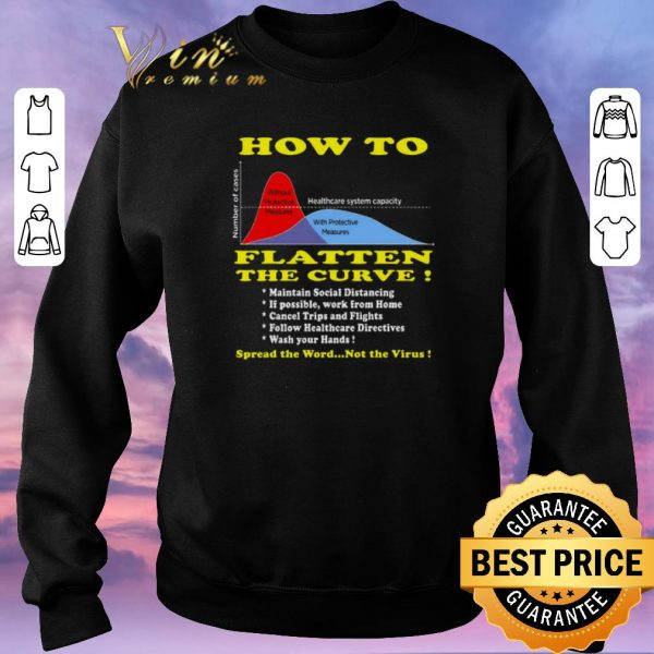 Hot How To Flatten The Curve Spread the word not the Virus shirt sweater