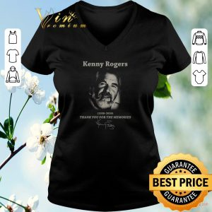 Hot Kenny Rogers 1938-2020 Thank You For The Memories Signature shirt sweater 1