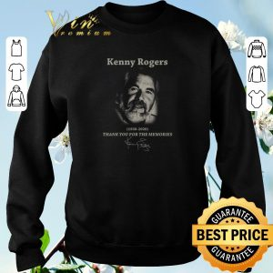 Hot Kenny Rogers 1938-2020 Thank You For The Memories Signature shirt sweater 2