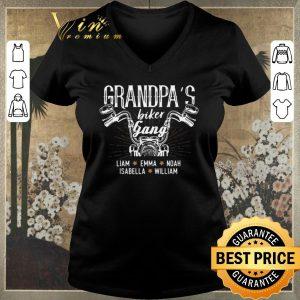 Hot Motorcycle grandpa's biker gang llama emma noah isabella william shirt sweater