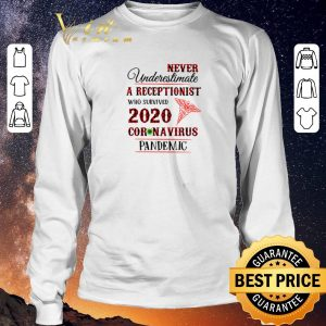 Hot Never underestimate A Receptionist who survived 2020 coronavirus pandemic shirt sweater 2