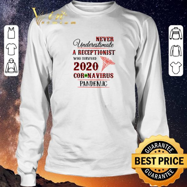 Hot Never underestimate A Receptionist who survived 2020 coronavirus pandemic shirt sweater