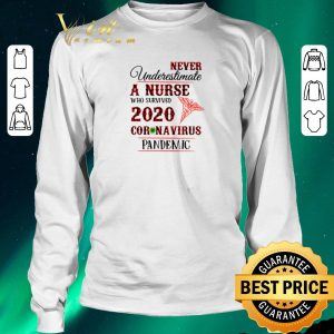Hot Never underestimate a nurse who survived 2020 Coronavirus pandemic shirt sweater 2